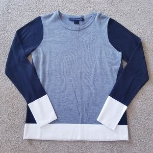 French Connection Colorblock Crew Neck Sweater